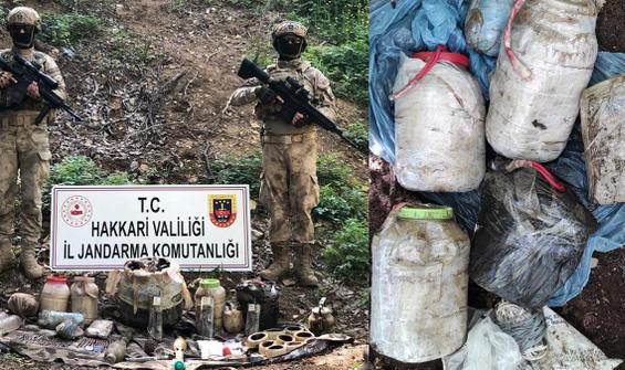 PKK'lı teröristlere ait çok sayıda patlayıcı ele geçirildi
