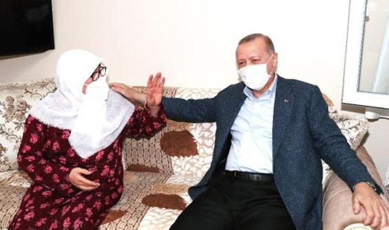 Erdoğan'dan Mahruze teyzeye sürpriz ziyaret