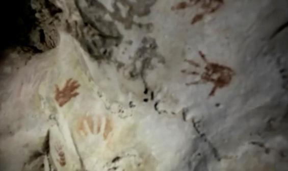 Maya uygarlığına ait el izleri bulundu