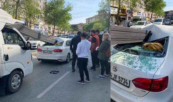 İstanbul'da feci kaza! Faciadan dönüldü