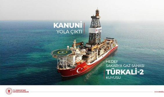 Kanuni gemisi Karadeniz'e açıldı