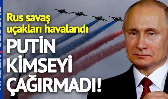 Putin sessiz sedasız savaş uçaklarını havalandırıyor!