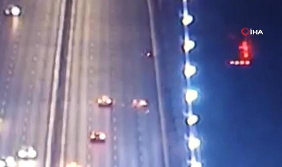 Köprüde korkunç motosiklet kazası anbean kamerada