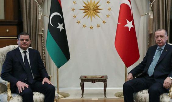 Erdoğan, Libya Başbakanı Dibeybe ile görüştü