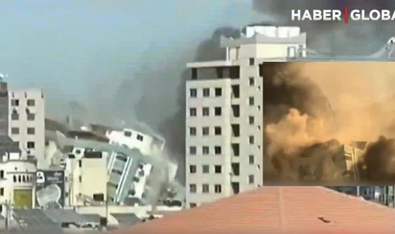 İsrail, Gazze'de medya kuruluşlarının olduğu binayı vurdu
