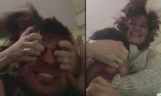 Kan donduran görüntü! Kocasının gözlerini oymaya çalıştı