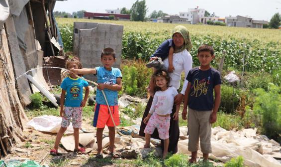 Çadırda yaşayan aileye 7 bin lira şoku!