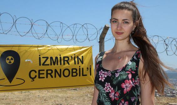 Ukraynalı turistten İzmir'deki nükleer atık eylemine destek