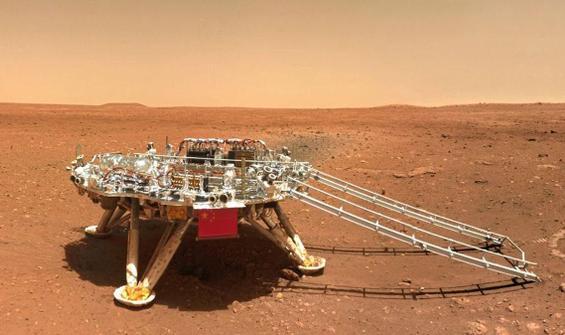 Çin paylaştı! Mars'tan yeni fotoğraflar...