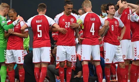 Danimarkalı futbolcu Eriksen EURO 2020 maçında fenalaştı