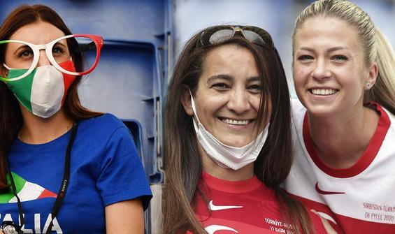 EURO 2020'nin tribün güzelleri