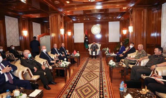 Türk üst düzey heyeti, Libya Başbakanı Dibeybe ile görüştü