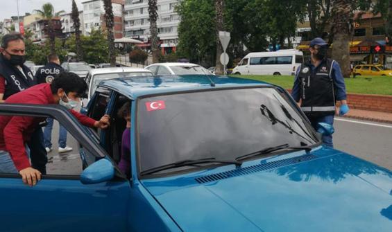 Denetimde aracı çekildi, polise sitem etti!
