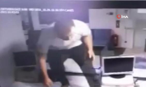 200 liralık banka soygunu saniye saniye kamerada