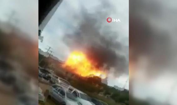 Kolombiya'da bombalı saldırı kamerada