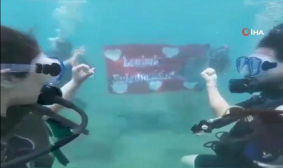 Su altında ilginç teklif kamerada