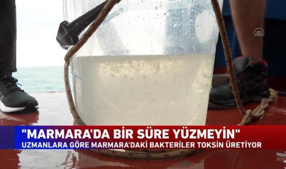"""Marmara'da bir süre yüzmeyin"""
