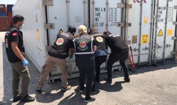 Mersin Limanı'nda 150 kilo kokain yakalandı