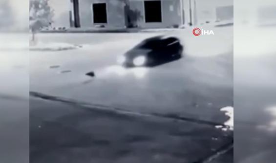 Bomboş yolda aracını köpeğin üzerine böyle sürdü