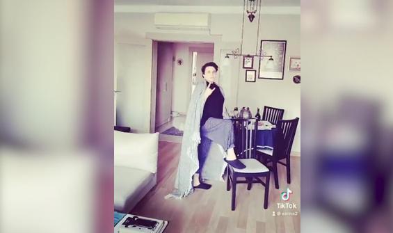 Esra Dermancıoğlu kıyafet değiştirme akımını ti'ye aldı