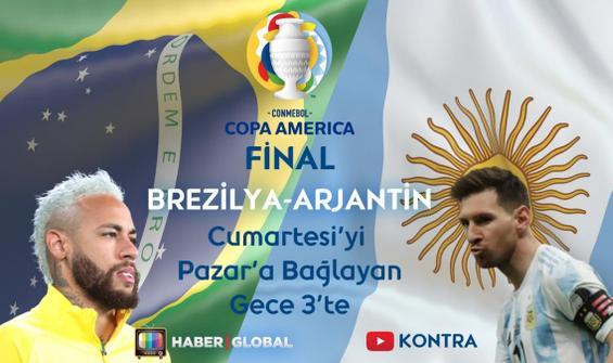 Brezilya Arjantin maçı canlı yayınla Haber Global'de