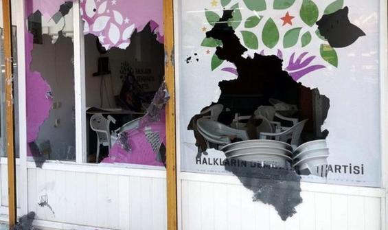HDP binasına saldırıda 1 kişiye gözaltı