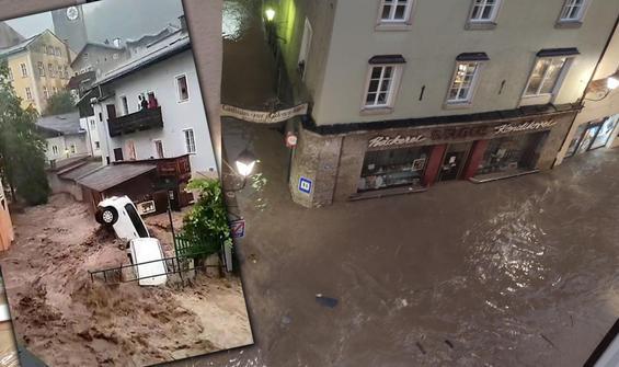 Avusturya'da sel felaketi: Kasaba sular altında kaldı