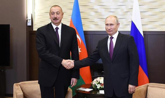 Aliyev, Putin ile görüştü