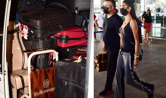 Miami'den Bodrum'a 45 bavulla geldi!