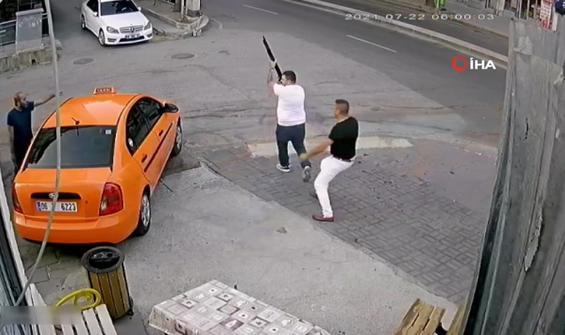 Taksi durağında pompalı tüfekli kavga