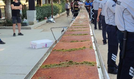 Hatay'da 82'nci yılda 82 metrelik künefe
