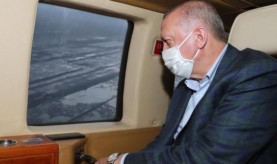 Erdoğan'ı taşıyan helikopter zorunlu iniş yaptı