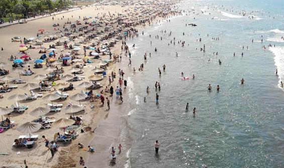 Üç plaj hariç ilçede denize girmek yasaklandı