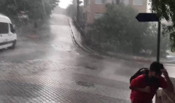 İstanbul'da yağmur başladı!