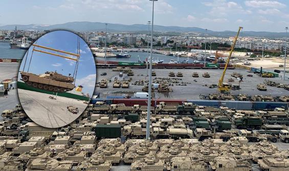 Yüzlerce ABD tankı Türkiye'nin Yunanistan sınırında!
