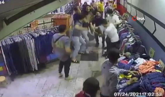 Telefon hırsızına meydan dayağı anbean kamerada