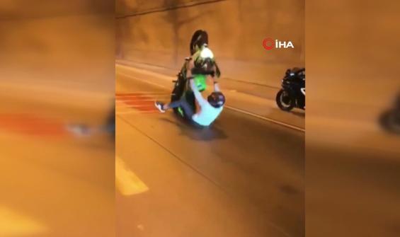 Motorcu gençlerin gösteriş sevdası kötü bitti