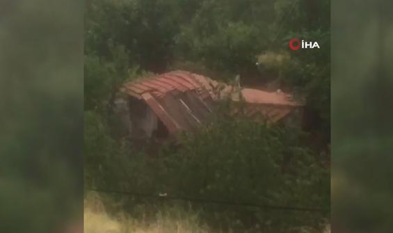 Selin bir evi yıktığı anlar saniye saniye görüntülendi