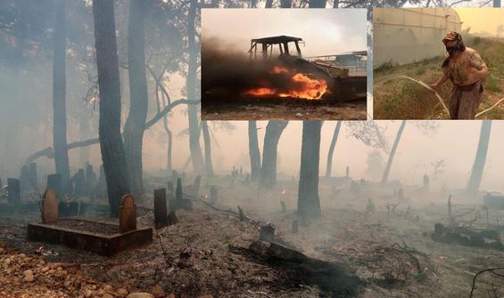 Bölge felaketi yaşıyor! Mezarlar da yandı