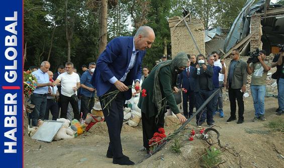 Numan Kurtulmuş'tan Gence'ye ziyaret! Ermenistan'a böyle tepki gösterdi
