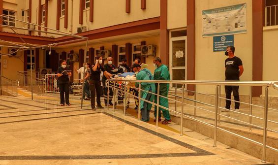 Manavgat'ta entübe hastalar nakledildi
