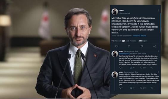 Fahrettin Altun'dan 'Ecem Güçlük' açıklaması