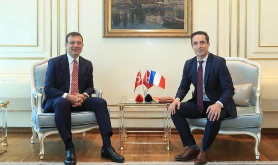 Fransa Ulaştırma Bakanı'ndan İmamoğlu'na ziyaret