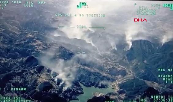 İHA'ların gözünden Manavgat'ta yangın felaketi