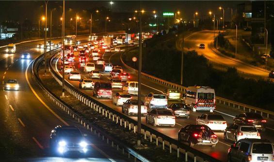 Bayramda 95 milyon araç trafiğe çıktı