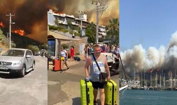 Bodrum'da yangın! Vatandaşlara çağrı...