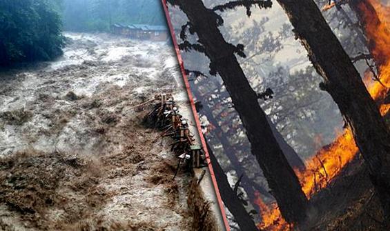 Karadeniz-Doğu'ya sel Ege ve Akdeniz'e yangın uyarısı