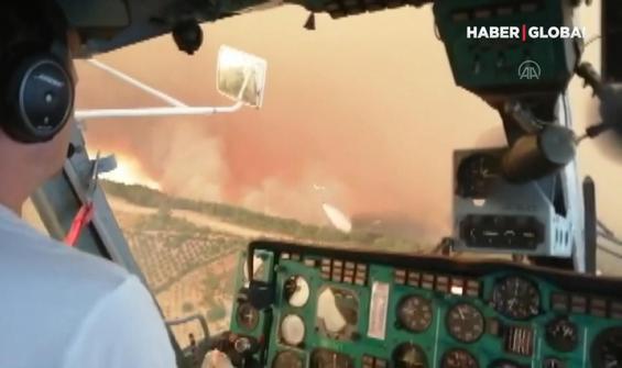 Manavgat'taki orman yangınından yürek yakan görüntüler