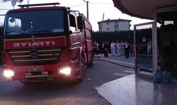 Rehabilitasyon merkezinde yangın çıktı
