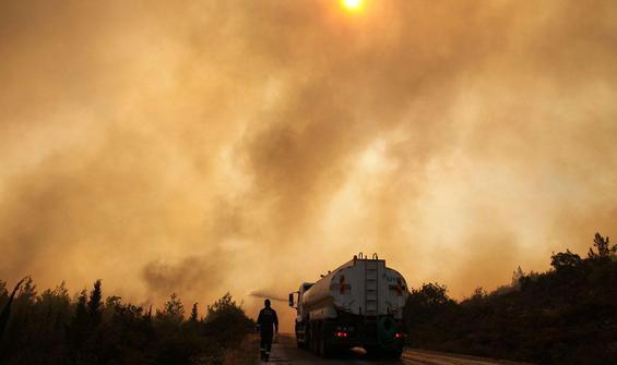 Milas'ta yangın yeniden başladı!